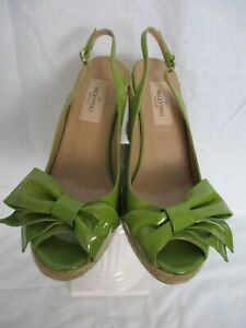 8fc4a0d59ba Details about Valentino - Mena Espadrilles Green Patent Leather Wedge (New  w/o Box) Size 7