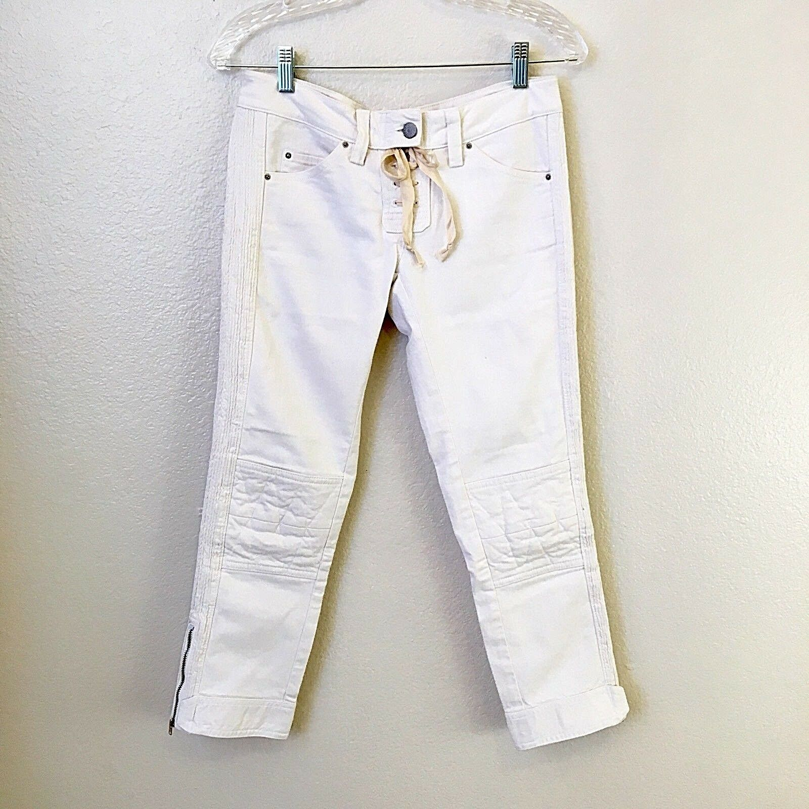 Isabel Marant Miro Cropped Jeans Size 2 White  395