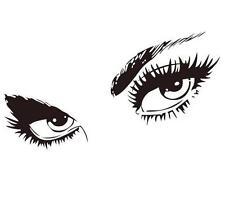 20 Fashion Eyes Nail Art Waterslide Decals