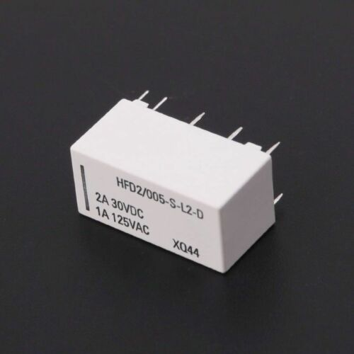 12V Coil Bistable Latching Relay DPDT 30VDC 2A 1A 125VAC HFD2005SL2D Realy L