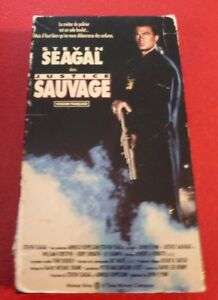 Rare-VHS-French-Movie-Justice-Sauvage-Out-for-Justice-Steven-Seagal