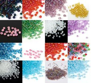 50g-Size-11-0-2mm-Glass-Seed-Beads-BUY-3-GET-1-FREE-Add-4-to-basket