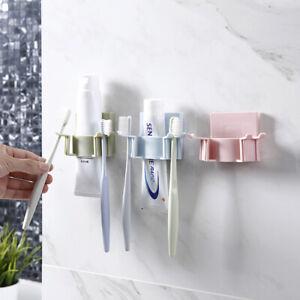 Porte-brosse-a-dents-en-plastique-Dentifrice-Support-de-rangement-rasoir-Distrib