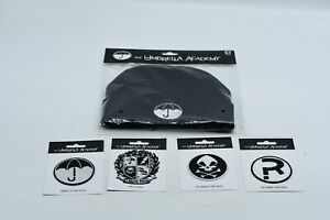 *NEW* The Umbrella Academy 2019 5 ITEM LOT - BEANIE, PATCHES WHOA YES
