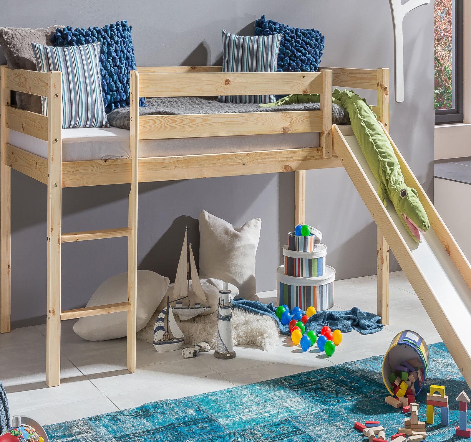 kinderbett hochbett mit rutsche leiter hochbett spielbett. Black Bedroom Furniture Sets. Home Design Ideas