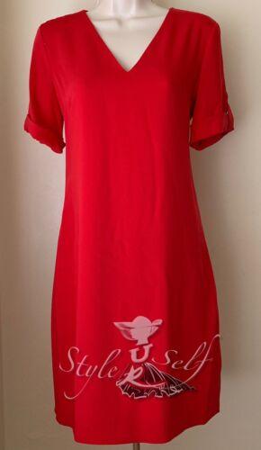 Lauren 4 risvolto Ralph a manica Dress 10 6 con Shift Taglia Nwt 2 risvolto rr0Pqw