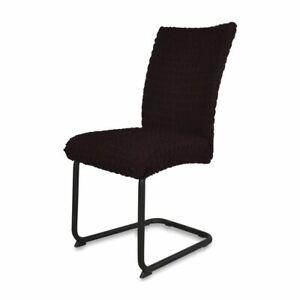 Fiora-Stretch-Stuhlhusse-Stuhlbezug-Elastische-Husse-Dekoration-Stuhl-Schwarz