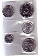 Indonesia set 5 monete annate miste  FDC