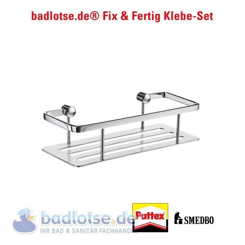 Smedbo Sideline brillant dusch-korb étagère de douche dk3001 klebe-set
