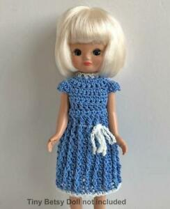 Clothes-for-Tiny-Betsy-McCall-8-034-Tonner-Doll-Handmade-USA-Dress-Lot-TB-19-Blue