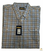 Bisley Seersucker Short Sleeve Shirt Plus King Size Work Cotton Blend Check