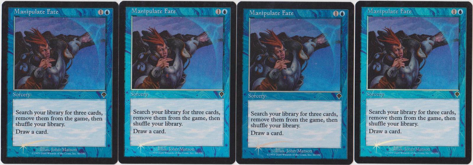 Foil Foil Foil Manipulate Fate - Invasion X4 MTG df1430 - buheye