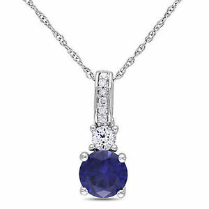 10k-White-Gold-Diamond-And-1-1-6-Ct-White-and-Blue-Sapphire-Pendant-With-Chain