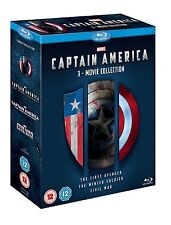 Marvel Captain America 3 Movie Collection Blue Ray DVD