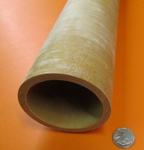 "Garolite Phenolic Nema Canvas Tube 3.00/"" OD x 2 1//2/"" ID x 1//4/"" Wall 2084"