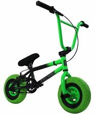 "FatBoy Assault 10"" Mini BMX Bicycle Freestyle Bike NEON GREEN / BLACK NEW 2017"