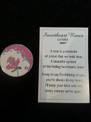 Peach Rose GANZ Sweetheart Rose Pocket Charms