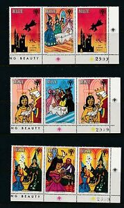 Belize-513-520-CORNER-GUTTER-PAIRS-WITH-ALL-MATCHING-CONTROL-039-S-RARE