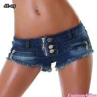 Womens Denim Shorts Sexy Ladies Summer Hot Pants Jeans Size 6,8,10,12 UK