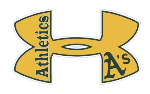 "11.5/"" x 7/"" Under Armour Oakland Athletics Baseball Truck//Window Decal Sticker"