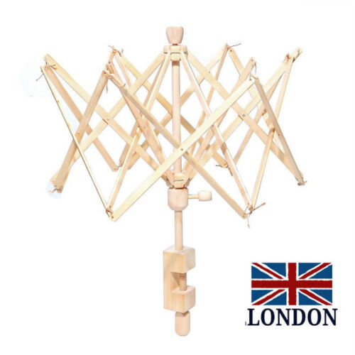 UK Craft Umbrella Wooden Swift Yarn Spinning Winder Holder for Skein Wool Ball-1