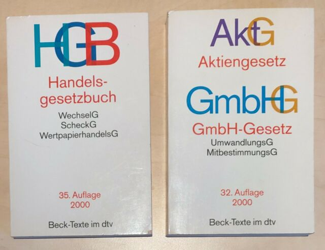 Handelsgesetzbuch + Aktiengesetz-und GmbH-Gesetzbuch Deutscher Taschenbuchverlag