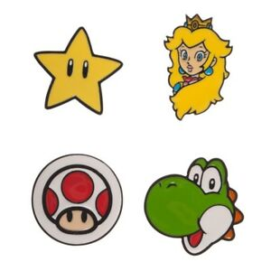 RETRO Super Mario Brothers Lapel Pin Set - Collectible Boxed Set - Unisex - OSFA