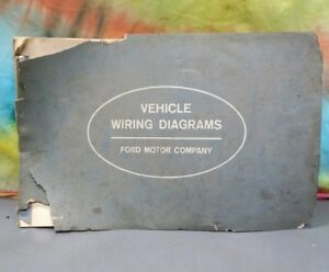 original 1963 ford all models wiring diagrams econoline fairlane rh ebay com 1968 Fairlane 1963 ford fairlane color wiring diagram