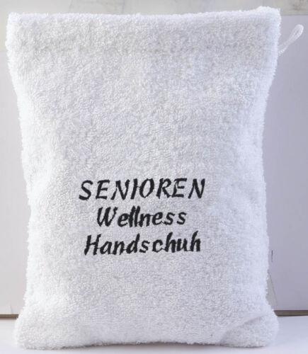 Waschhandschuh Waschlappen mit Stick ♥ SENIOREN WELLNESS HANDSCHUH ♥ 31209