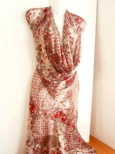 rojo vestidos de tela Designer chifón gris METERWARE Lagenlook sustancias negro