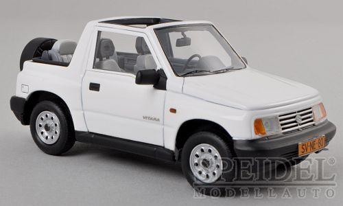 Wonderful modelcar SUZUKI VITARA 1.6 JLX CONVERTIBLE 1990 - bianca  - 1/43 - ltd