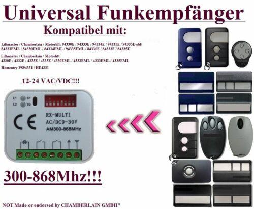 Liftmaster Chamberlain 94330E 94335 433,92Mhz kompatibel funkempfänger 2-kanal