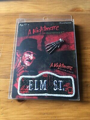 Nightmare on Elm Street Freddy Krueger 3 piece Pin /& Patch set Horror Brand New