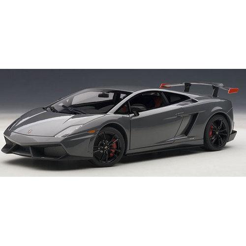 Acción  1 18 Autoart Lamborghini Gallardo lp570 Super Trofeo Stradale gris 2011