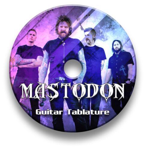 MASTODON HEAVY METAL ROCK GUITAR TAB TABLATURE SONG BOOK SOFTWARE CD