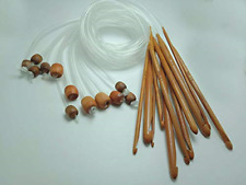 "1.2m48/"" 12 Different Sizes//Set Tunisian Carbonized Bamboo Needle Crochet Hook TO"