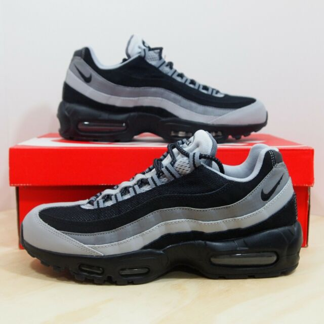 Men's Nike Air Max 95 Essential Shoes Size 11.5 Black Grey 749766 005