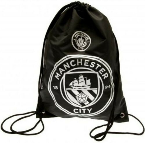 Manchester City fcfootball école Sports Gym Kit Cordon Coulissant Nager Sac RT MCFC
