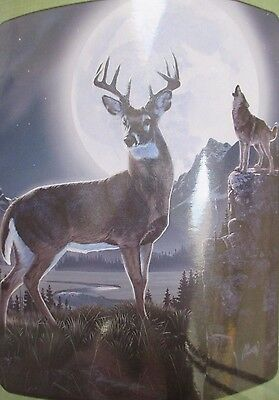 "American Heritage Collection Royal Plush Raschel Throw 50/"" x 60/"" Deer"