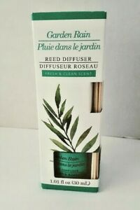 Reed-Diffuser-Garden-Rain-Scented-1-01-FL-OZ-With-Reeds-Fresh-amp-Clean-NEW