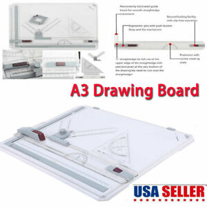 Pro-Architect-A3-Drawing-Drafting-Board-Ruler-Table-Adjustable-Angle-Tools-Set