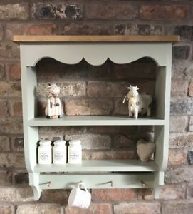 Shabby-Chic-Pine-Cabinet-wall-Unit-shelf-shelf-Unit-In-French-Gray