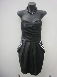 Black-Dress-With-Silver-Studs-size-Small