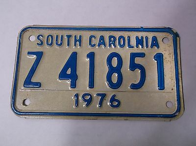 1976 South Carolina ERROR Motorcycle License Plate Tag MISSPELLED Z41851 L@@K