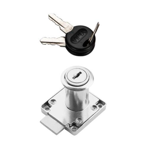 Office Dresser Drawer Locker Kitchen Cupboard Kids Proof Lock Silver 32mm