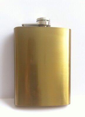 8,oz Hip Flask Stainless Steel Pocket Drink Whisky Flask Golden Nice Gift Item