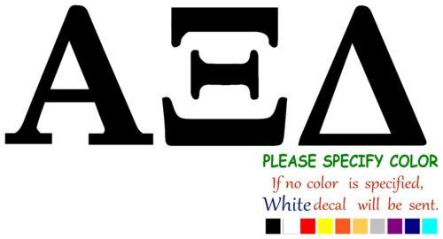 "ALPHA XI DELTA SORORITY Funny Vinyl Decal Sticker Car Window laptop tablet 7/"""