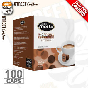 100 Cialde Capsule Caffè Motta Intenso compatibili Nespresso NO BORBONE Rosso