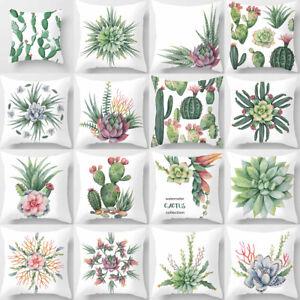 ALS-Cactus-Tropical-Plant-Pillow-Case-Sofa-Waist-Throw-Cushion-Cover-Decor-Hot