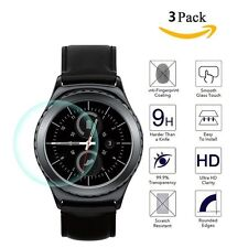 3 Pack For Samsung Galaxy Gear S2 Watch Premium Tempered Glass Screen Protector